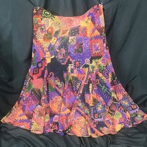 Ralph Lauren Multi Colored Ethnic Boho Skirt 6